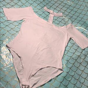 Ambiance apparel white collar bodysuit